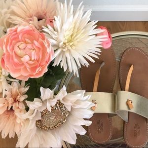 3 For $20 ❣️ Mossimo Gold Sandals